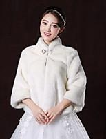 Wedding / Party/Evening Faux Fur Boleros Long Sleeve Fur Coats