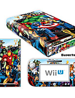Decal Skin Sticker (High Gloss Coating) for Nintendo Wii U Console + Controller Device(Assorted Pattern)