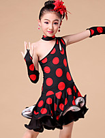 Kids' Dancewear Outfits Children's Performance / Training Milk Fiber Ruffles / Animal Print / Polka Dots 4 Pieces