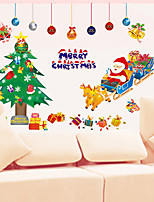 Santa Claus PVC Wall Stickers  Christmas Decoration
