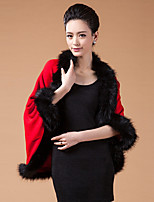 Women's Fashion Faux Fur Knitting  Warmth Shawl