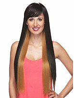 Capless Mixed Long High Quality Natural Straight Synthetic Wig