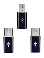 Cwxuan™ USB 3.1 Type-C Male to Micro USB 5pin Female Extension Adapters   (3 PCS)