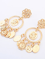 Women's Fashion Retro Flower Alloy Earring