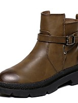 Women's Shoes Flat Heel Combat Boots Boots Outdoor / Casual Black / Brown