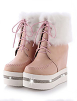 Women's Shoes Platform Comfort Boots Outdoor Black / Pink / White