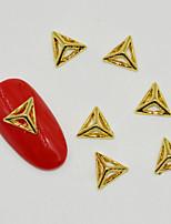 10pcs Hot Individual Silver And Gold in Pyramid 3D Nail Art Decoration