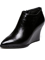 Women's Shoes  Wedge Heel Combat Boots / Pointed Toe Boots Outdoor / Casual Black