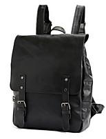 Unisex PU Bucket Backpack - Brown / Black