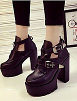 Women's Shoes  Chunky Heel Bootie Boots Casual Black