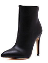 Women's Shoes Stiletto Heel Pointed Toe Boots Dress Black