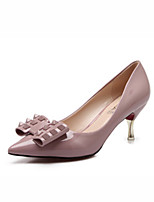 Women' heel shoes/ Fashion Big Yards Pointed In The Heel Shoes/Rivet Shallow Leisure Shoes/Black shoes/Pink