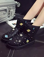 Women's Shoes Low Heel Round Toe Boots Casual Black / White / Gray