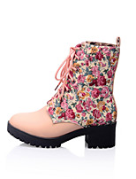 Women's Shoes Low Heel Fashion Boots Boots Outdoor / Casual Black / Blue / Pink