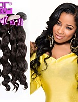 Factory Price Fashion Loose Wave 3pcs/bundle Peruvian Virgin Human Hair Weft