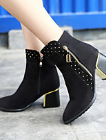 Women's Shoes Leatherette Chunky Heel Combat Boots /  Office & Career / Casual Black / Blue / Brown / Green / Red
