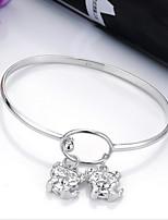 Women's Charm Bracelet Silver Non Stone