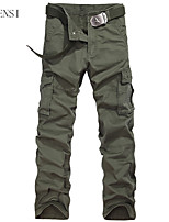 The spring and summer of 2015 new men's overalls male Korean Multi Pocket slim casual pants pants