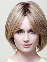 encantadora remy virginal de calidad superior corto cabello humano recto monofilamento (1