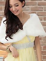 Women Faux Fur Top , Belt Not Included Fur Vest Shawl