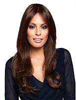 Brown Long Synthetic Wave Wigs European Lady's Women