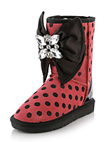 Women's Shoes Leather Flat Heel Snow Boots / Fashion Boots Boots Wedding / Party & Evening
