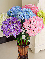 Seda / Plástico Hortensias Flores Artificiales