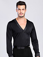 Latin Dance Tops Men's Performance / Training Spandex 1 Piece Black