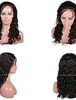 10a premierwigs 8 '' - 28 '' Perun kihara Brasilian neitsyt täynnä pitsiä hiuksista peruukit luonnollinen väri pehmeä pitsi edessä