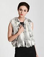Women Elegant Winter Faux Fur Top Fur Vest