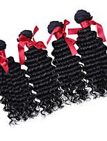 brasileño suelta grado 7a color natural del pelo virginal onda rizada sin procesar suelta rizado tejidos pelo de la onda 4pcs / lot humana