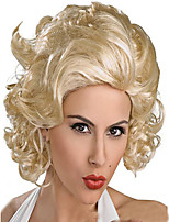 Cosplay Hot Models in Europe and America High-quality Synthetic Wig New Golden Ball