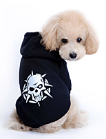 Stylish Skull Print Pet Coat with Hoodies for Dogs and Cats(Assorted Sizes)