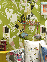 New Rainbow™ Floral Wallpaper Contemporary Wall Covering , Pure Paper Wallpaper magazine cover