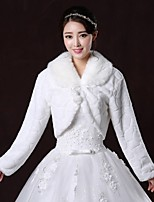 Wedding / Party/Evening Faux Fur Boleros Long Sleeve Fur Coats