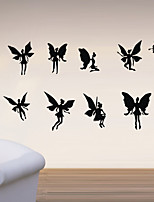 Cartoon Wall Stickers Plane Wall Stickers Flower Fairy PVC Wall Stickers