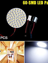 10X Xenon White 1156 BA15S T10 Interior Dome Map Dome RV 60-SMD LED Light Panel
