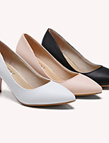 Women's Shoes Leather Low Heel Basic Pump / Comfort / Closed Toe Heels Outdoor / Office & Career/ New Stilettos