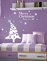 Wall Stickers Wall Decals Style Snowflake Christmas Tree PVC Wall Stickers