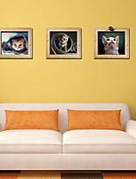 Animales / Caricatura / Romance / De moda / Día Festivo / Formas / Fantasía / 3D Pegatinas de pared Calcomanías 3D para Pared , PVC90cm x