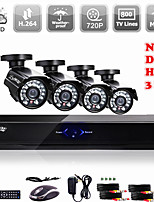 Liview®  AHD DVR/ HVR/NVR 3 in 1 with 800TVL Camera Security System