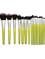 Kabuki Makeup Brush Set Cosmetics Foundation Blending Blush Eyeliner Face Powder Brush Makeup Brush Kit (23pcs,Green)