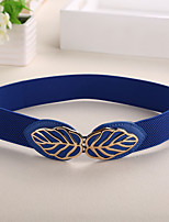 Women PU Fashion Elegant Leaves Wide Belt , Party / Casual Alloy / Leather