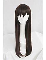 Lanting cos noragami iki hiyori marrom longo cosplay partido peruca de cabelo anime
