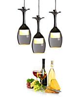 Pendant Lights LED 3 Lights Round Backplate Modern/Contemporary Living Room / Bedroom / Dining Room/Office Metal