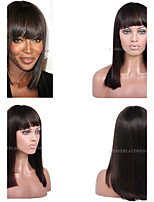 Premierwigs 10''-24''Campbell Style Straight Soft Full Brazilian Virgin Lace Front Wig Natural Hairline No Reason Return