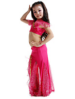 Belly Dance Outfits Children's Performance Milk Fiber Bow(s) 2 Pieces Fuchsia / Red / White / Yellow / Lake Blue