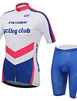 XINTOWN Women's Short Sleeve Summer Cycling Suits Pants/Bib Tights Breathable/Moisture Permeability Jersey