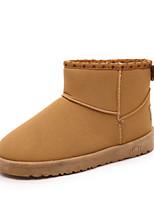 Women's Shoes Low Heel Round Toe Boots Casual Black / Blue / Purple / Khaki