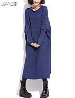 De las mujeres Vestido - Grueso Casual - Punto - Manga Larga